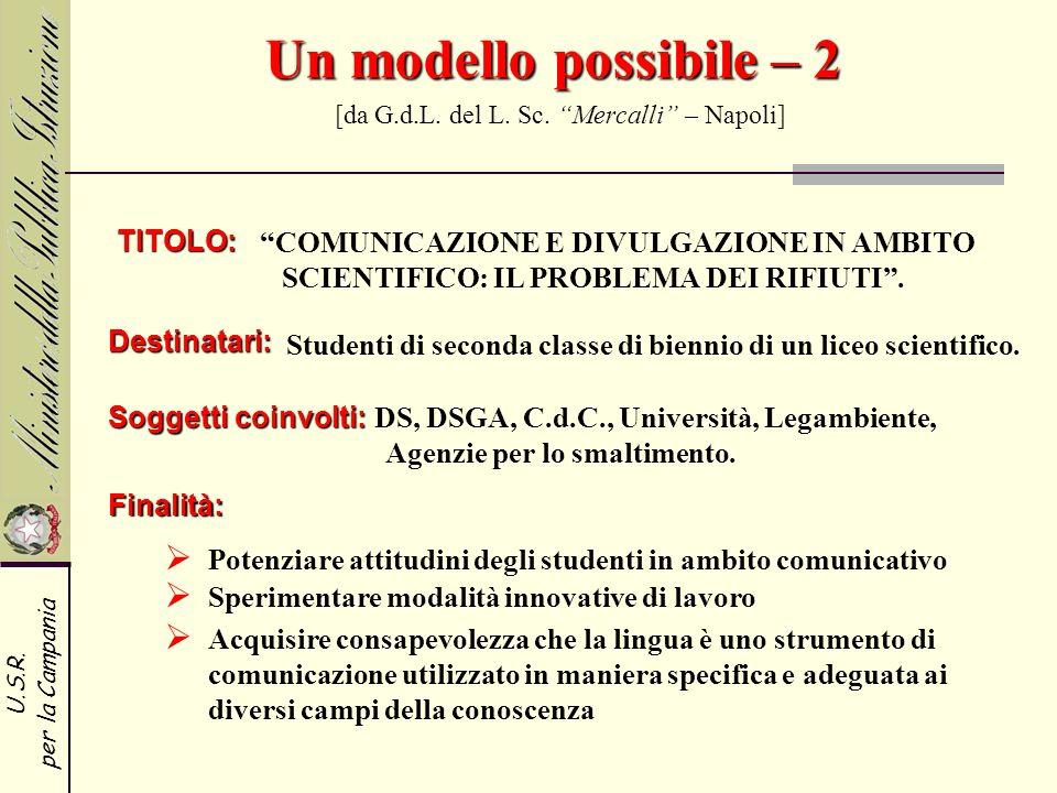 Un modello possibile – 2 [da G.d.L. del L. Sc. Mercalli – Napoli]
